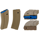 Okay Industries SureFeed E2 AR-15 Magazine 5.56 - 30rd - Desert Tan - $12.49