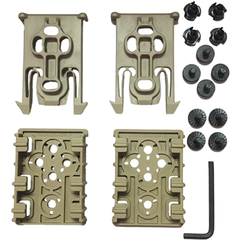 Safariland ELS Kit, Contains 2 Each of ELS 34 and ELS 35 (Black, FDE) - $13.32 (Free S/H over $25)